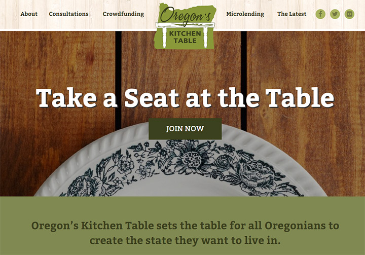 oregons kitchen table