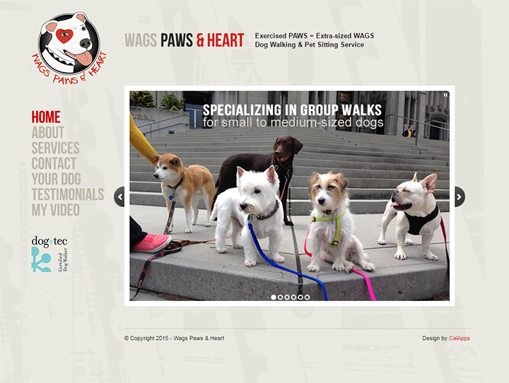 wags paws and heart