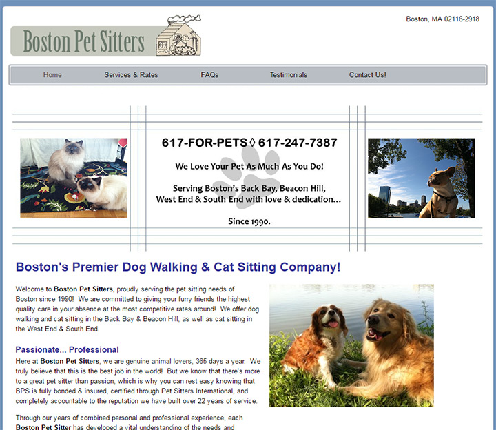 boston pet sitters