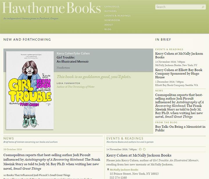 hawthorne books