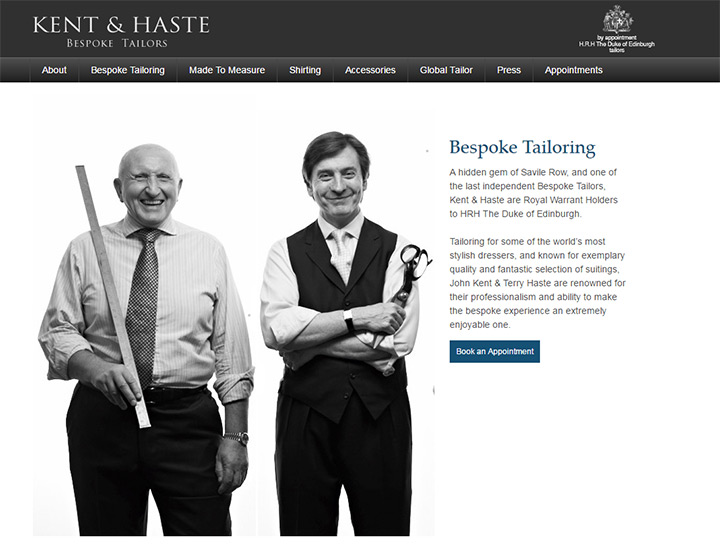 kent and haste bespoke tailor