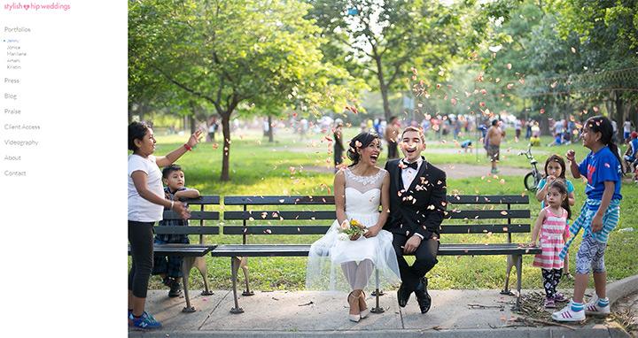 stylish hip weddings