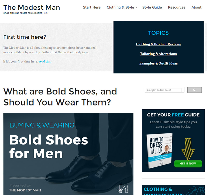 modest man blog