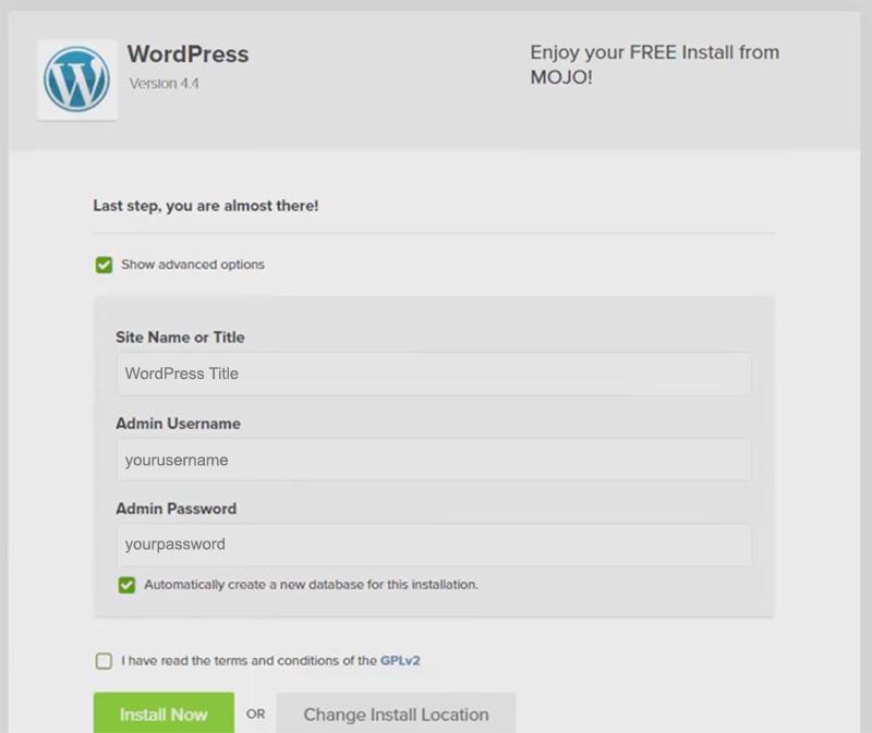 advanced options wordpress setup