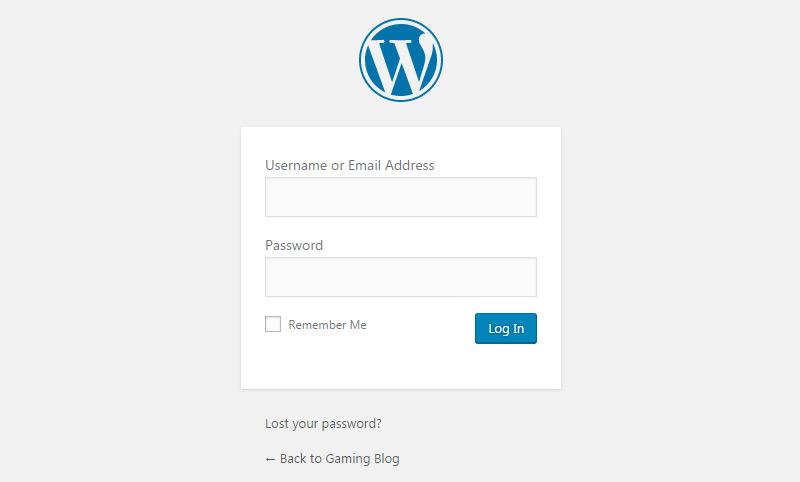 wp wordpress login
