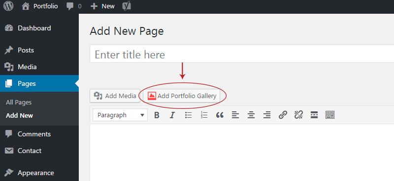hugeit portfolio button