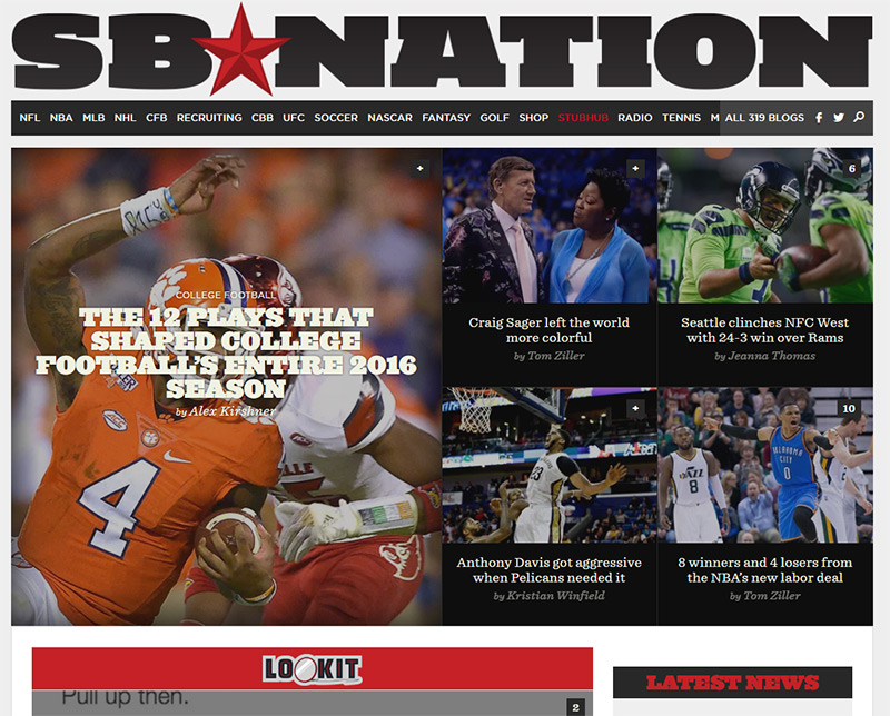 sb nation magazine