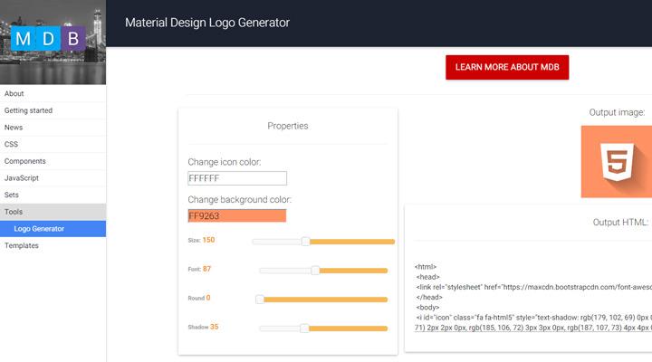 material design logo generator