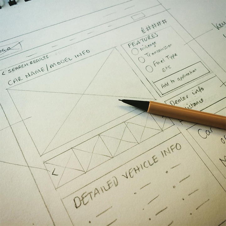 finance website wireframe