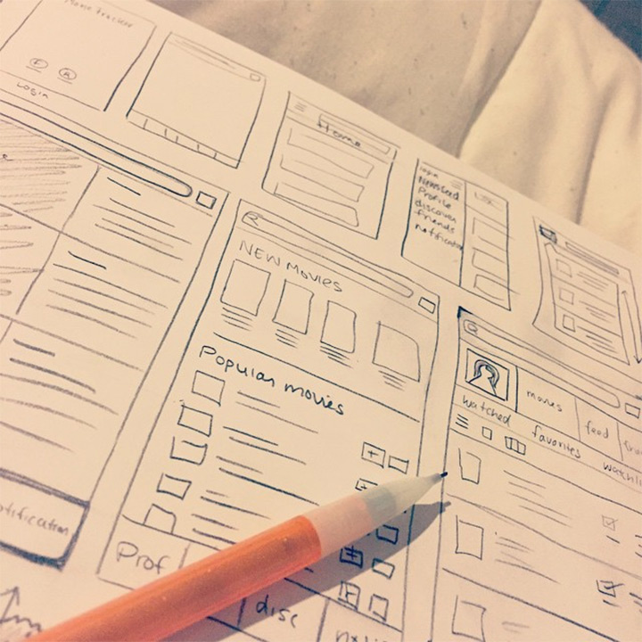 mobile app ui sketches