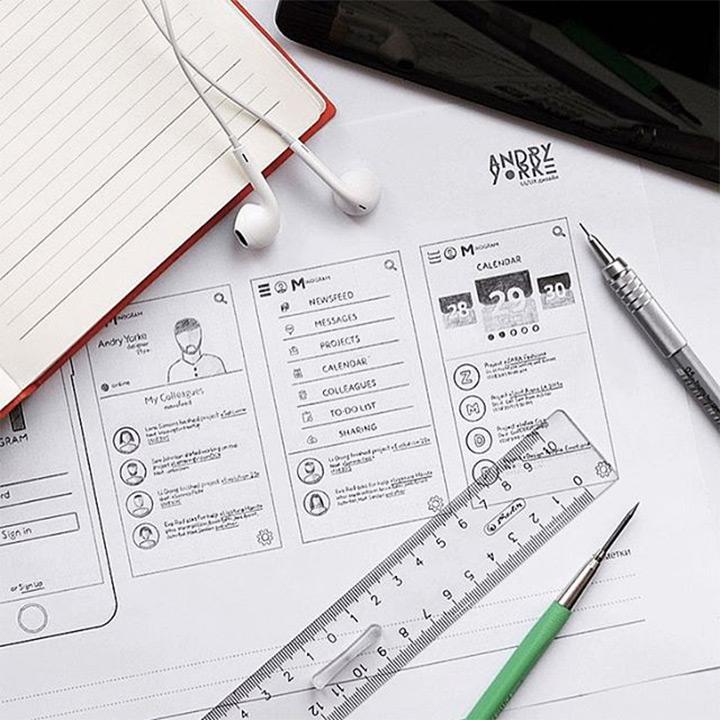 precise sketching app ui