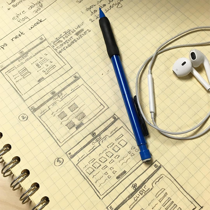 sample website ui sketch