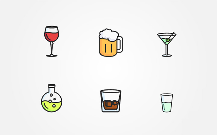 freebie alcohol iconset