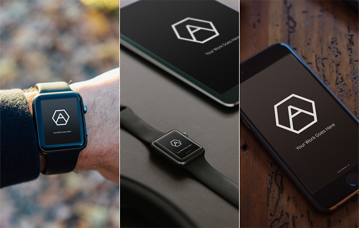 free apple watch iphone device psd