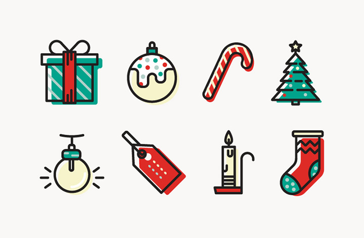 freebie christmas icons colorful