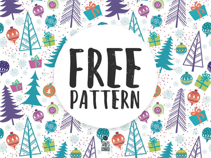 repeating background christmas pattern freebie