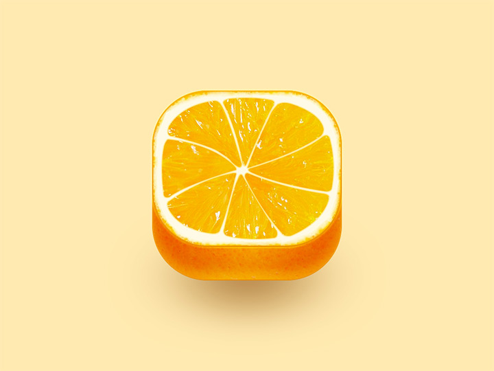 detailed orange ios icon