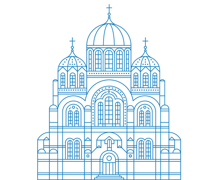 kiev cathedral architecture icons psd ai sketch