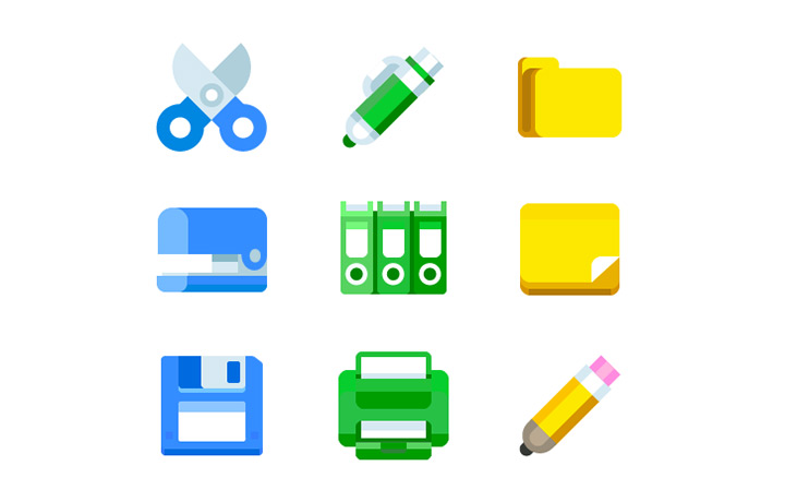 office tools gradient icons