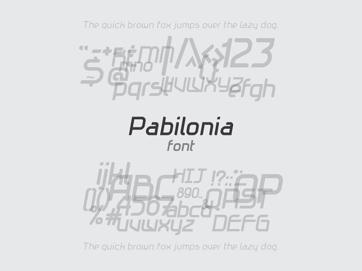pabilonia open source font