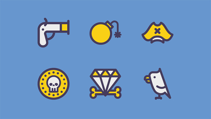 pirate iconset freebie