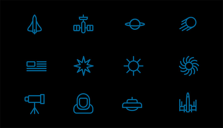 space station iconset freebie