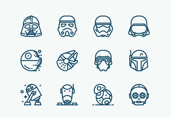 star wars force awakens icons freebie