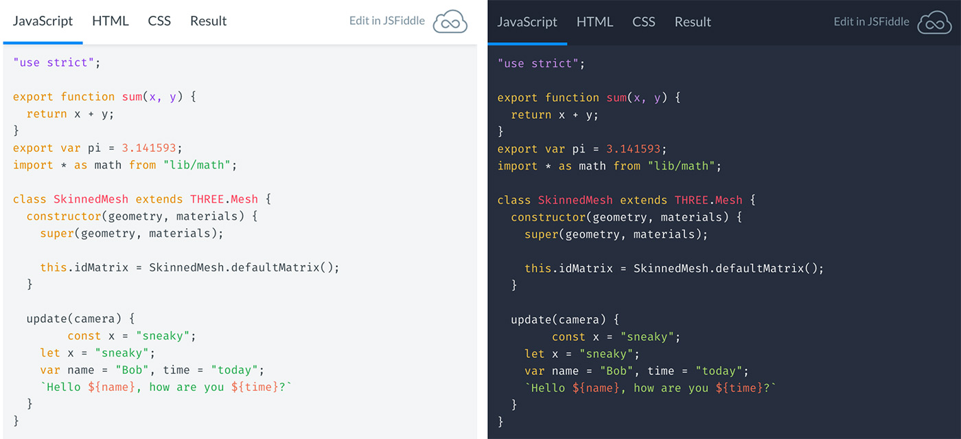 jsfiddle embed update - light and dark themes