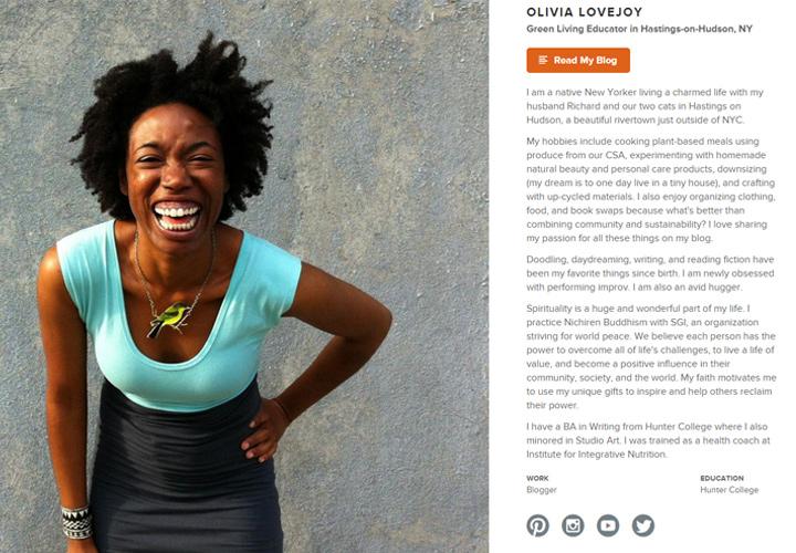Olivia Lane about.me profile