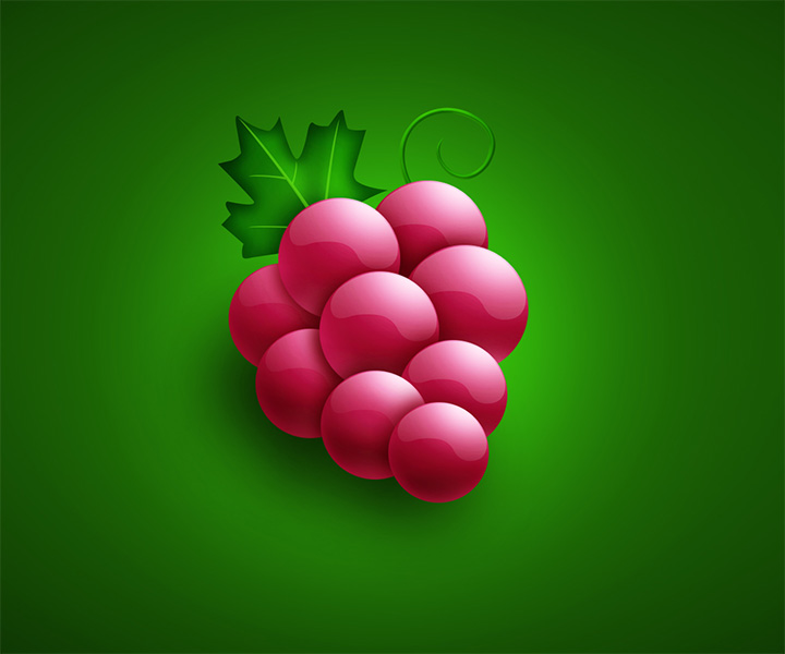 cartoon grapes icon psd