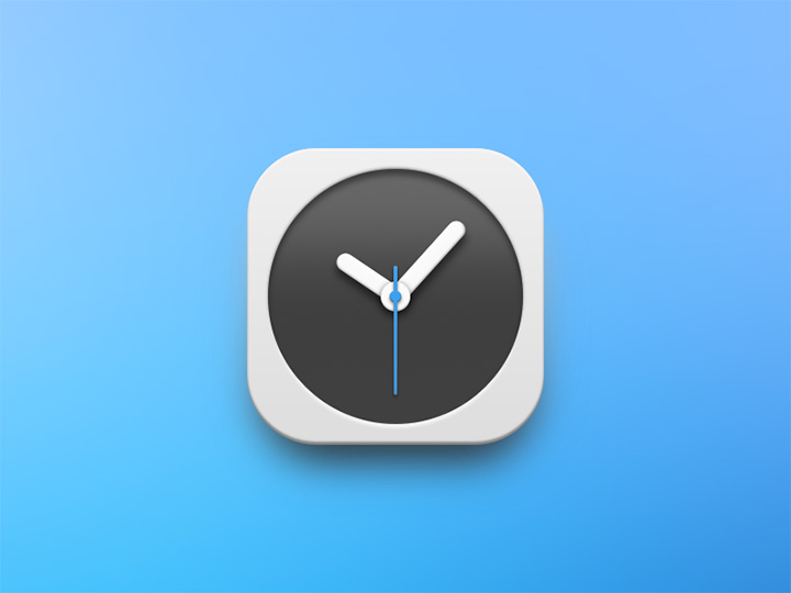 dark icon clock freebie