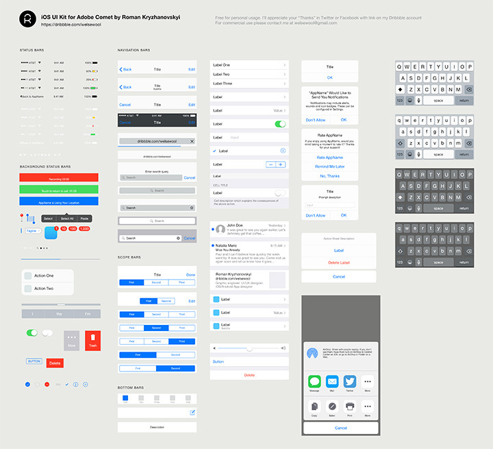 adobe comet ui kit