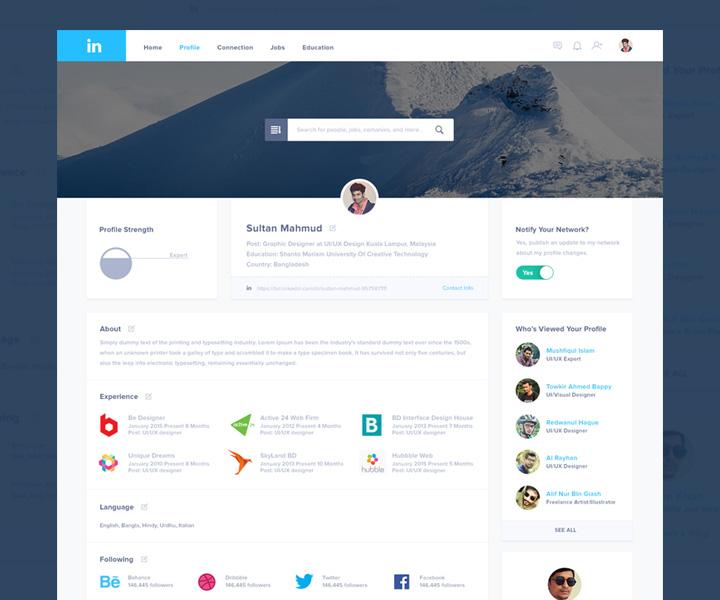 flat website linkedin redesign