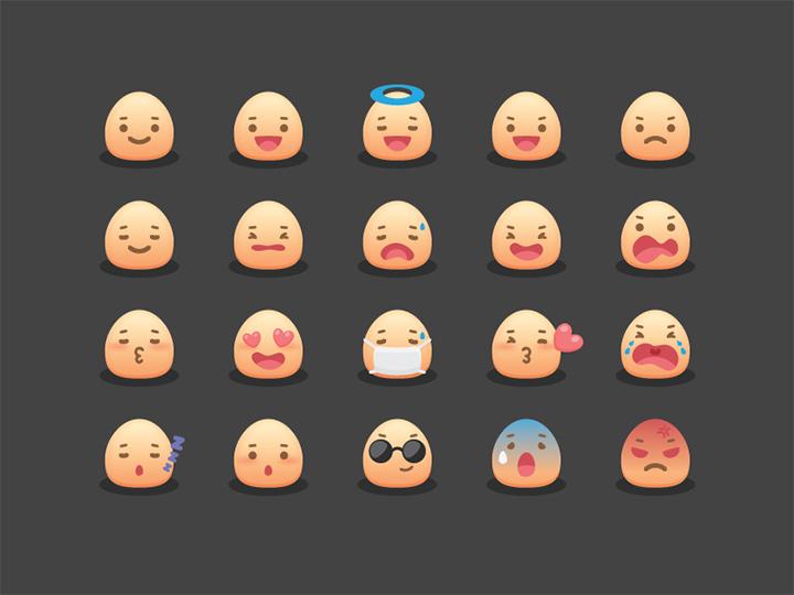 emoji smiley iconset freebie