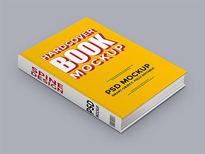 freebie mockup hardcover book