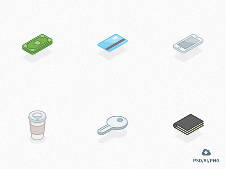 isometric icons freebie