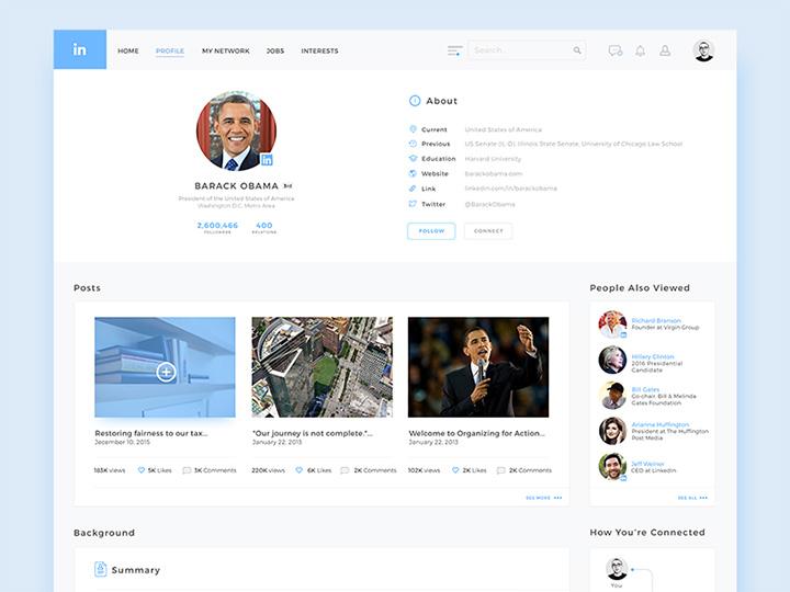 linkedin light profile redesign