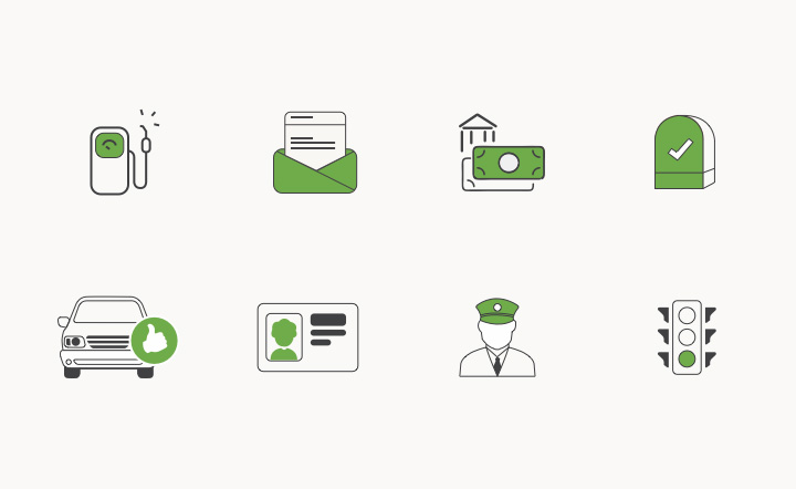 travel insurance icons