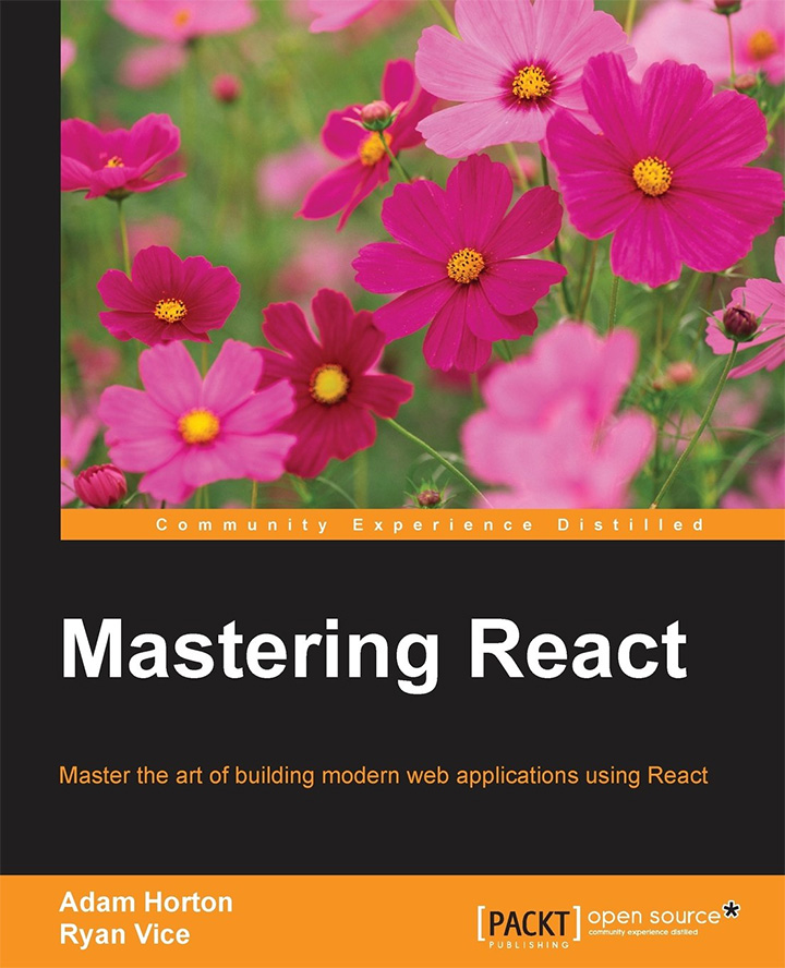 mastering react book cover 2016