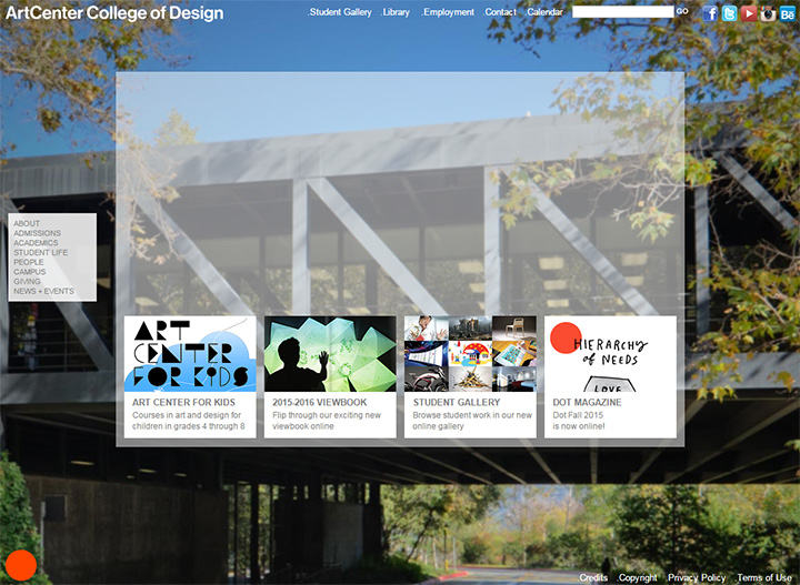 old artcenter homepage