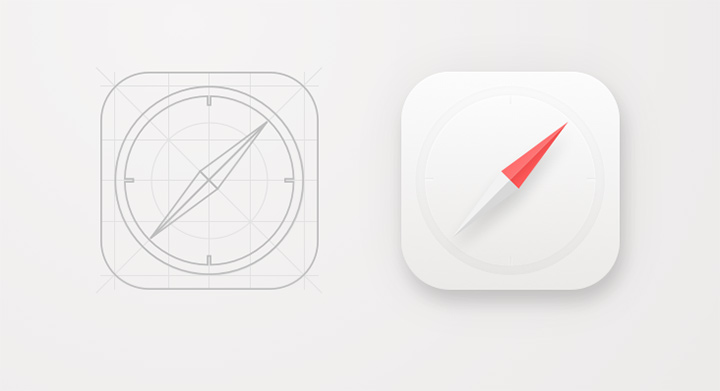 safari app icon sketch freebie