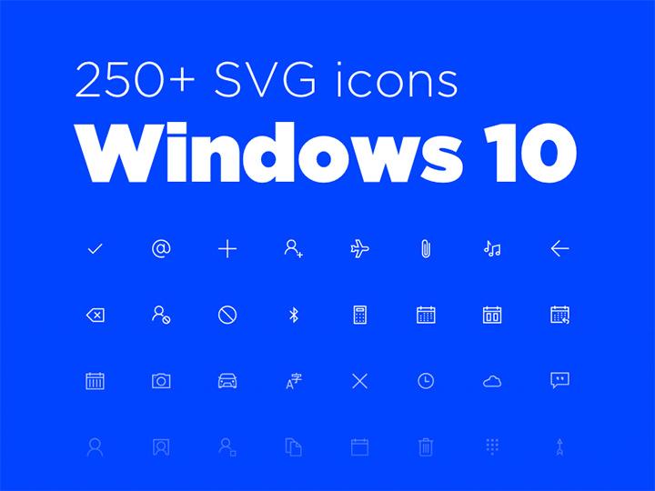 freebie 250+ windows 10 iconset