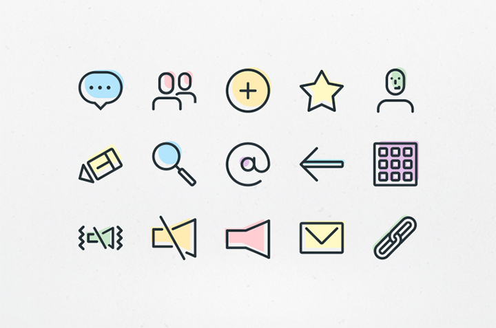 telephone contacts colored iconset