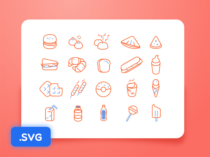 freebie iconset food icons