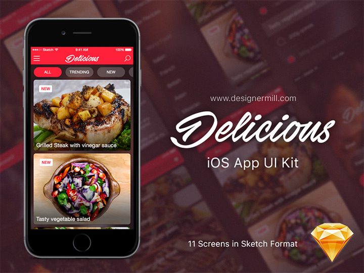 delicious food ui kit