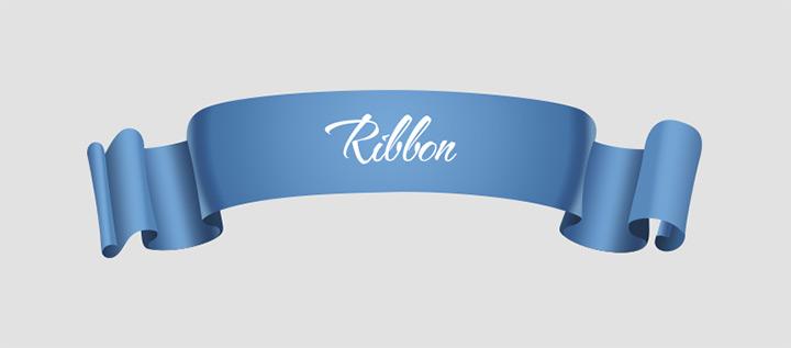 blue ribbon psd freebie