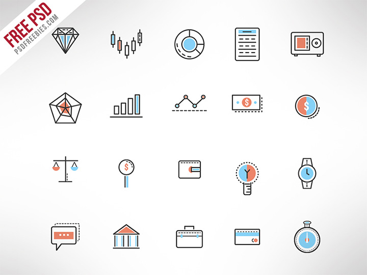 thin line investment icons
