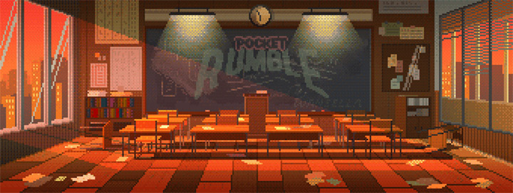 waneella pixel art fighting game bg