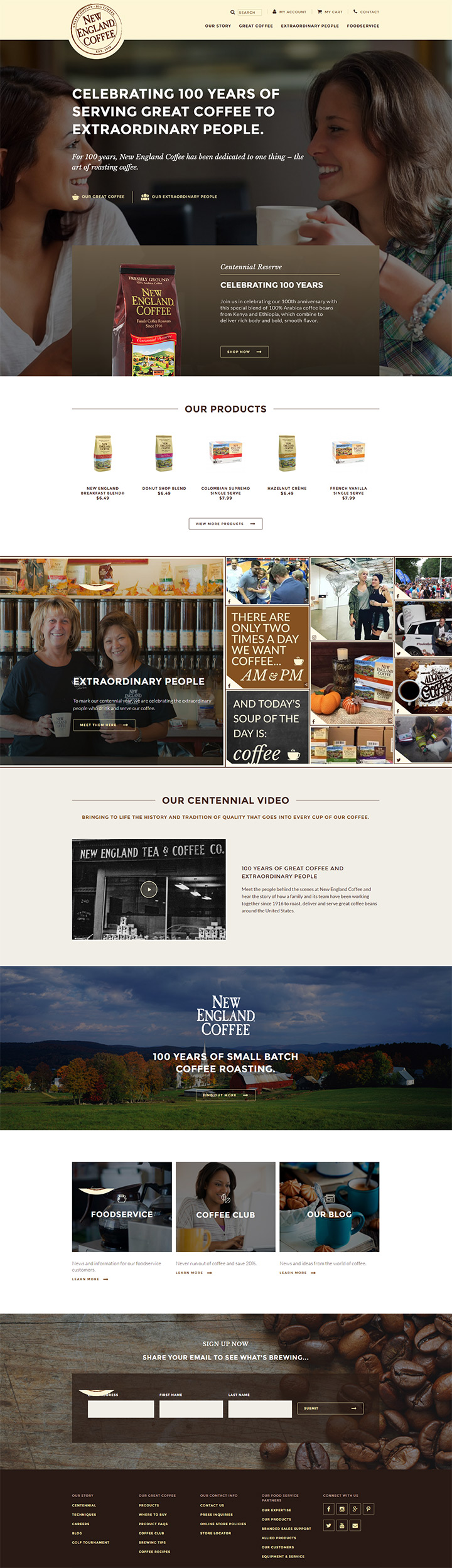 ne coffee website