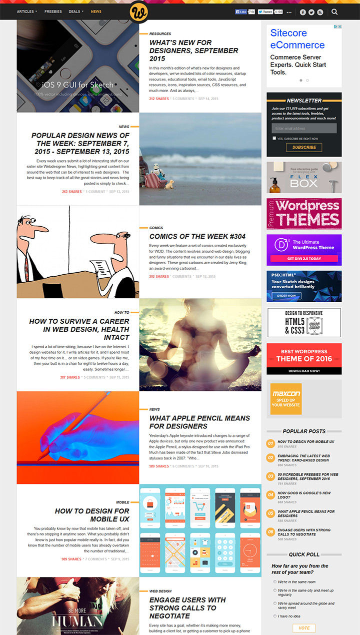 wdd webdesigner depot homepage layout